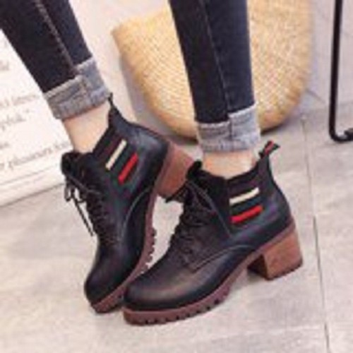 Giày Boot Cột dây cao cấp - HÀNG NHẬP