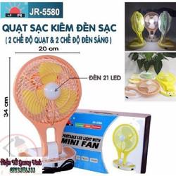 Quạt sạc kèm đèn LED siêu sáng gấp gọn - Quạt tích điện mini fan
