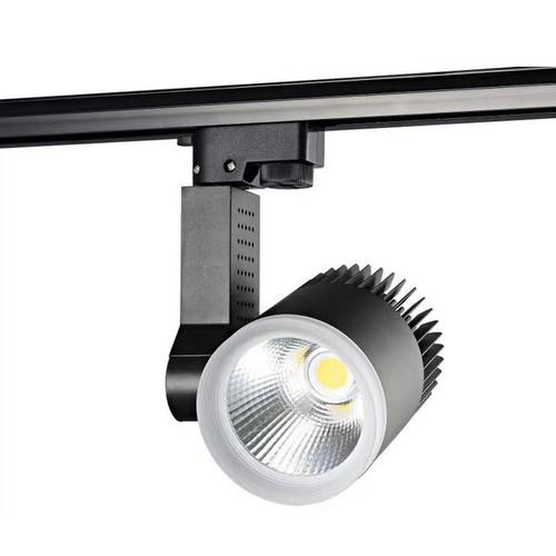 Đèn LED Rọi Ray Cob Cao Cấp 30w Vỏ Đen Ánh Sáng Vàng