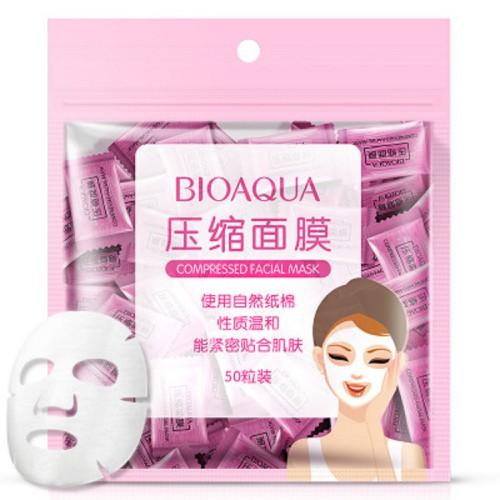 Một gói 50 cái Mask Nén Mặt Nạ Giấy Nén Bioaqua