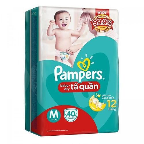 TẶNG Bỉm Quần-Dán pampers M66-L60-XL54 Rẻ nhất sendo