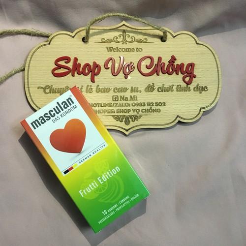 BAO CAO SU MASCULAND Frutti Edition 3 mùi hương + 3 màu sắc HỘP 10 CÁI
