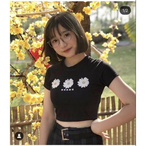áo croptop hoa cúc