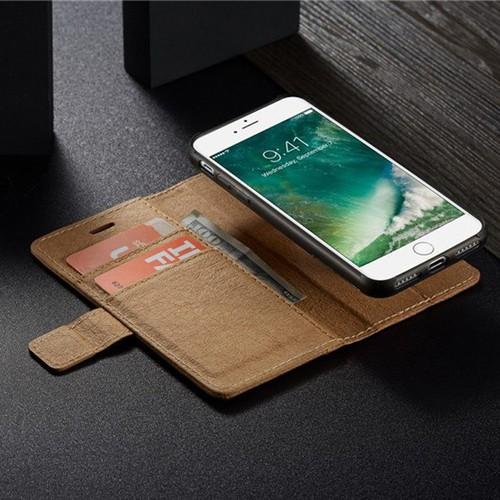 Bao da Iphone 6, 6s kiêm ví tiền đựng thẻ, card siêu tiện lợi