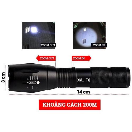 Đèn pin siêu sáng XML T6 cao cấp