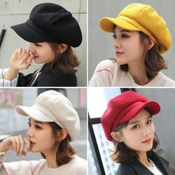Mũ nón nồi, beret nữ phong cách HÀN QUỐC – màu trơn