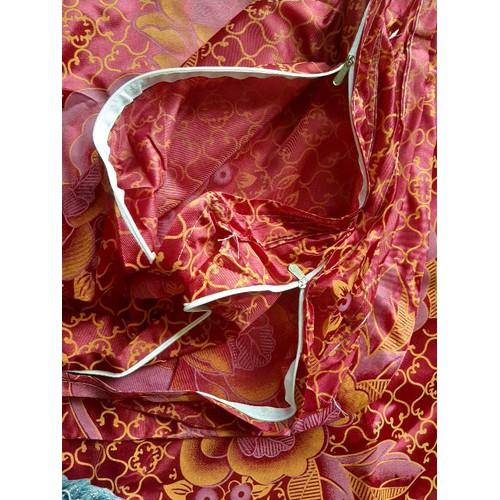 áo nệm gấp 3 gấm valize cao 10cm