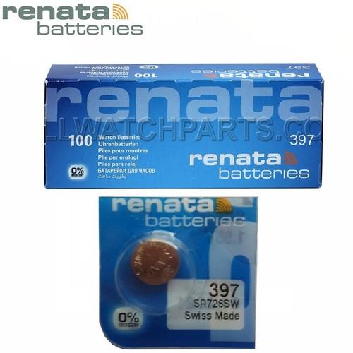 Pin đồng hồ 397 SR726SW Renata chính hãng Thụy Sĩ - Vỉ 1 viên