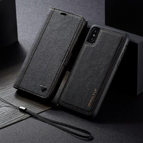 Bao da Iphone Xs Max kiêm ví tiền đựng thẻ, card siêu tiện lợi