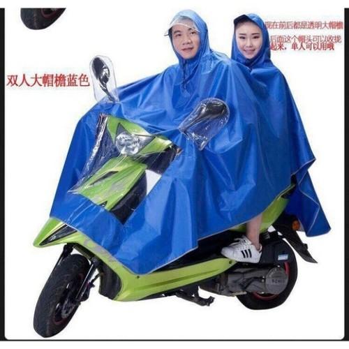 Áo mưa phản quang 2 đầu có kính che mặt cực đẹp