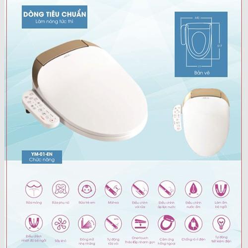 Nắp bàn cầu điện tử Smart toilet ARCA Nhật Bản