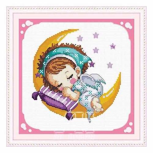 Tranh thêu chữ thập hoạt hình tình yêu bé gái nằm mơ trên mặt trăng - 11562523 , 17561847 , 15_17561847 , 79000 , Tranh-theu-chu-thap-hoat-hinh-tinh-yeu-be-gai-nam-mo-tren-mat-trang-15_17561847 , sendo.vn , Tranh thêu chữ thập hoạt hình tình yêu bé gái nằm mơ trên mặt trăng