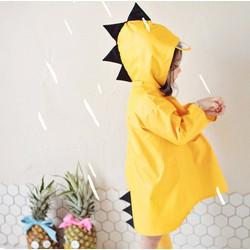Áo mưa khủng long ngộ nghĩnh vàng tươi cho bé yêu