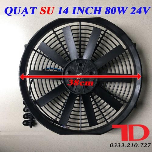 Quạt SU 14 inch 80W 24V loại cánh thẳng