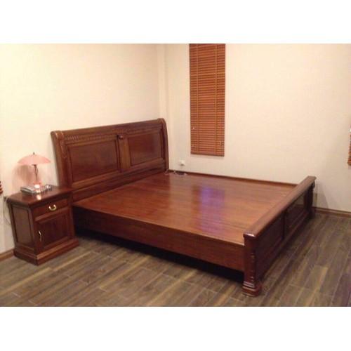 giường gỗ gụ - GG12