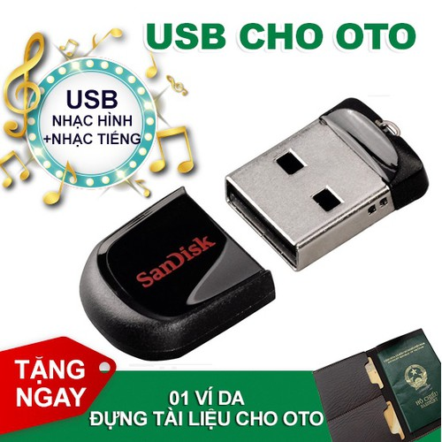 [MIỄN PHÍ VẬN CHUYỂN] USB CA NHẠC CHO OTO [ NHẠC HÌNH + NHẠC TIẾNG ]