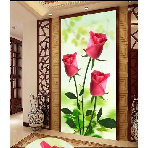 tranh gạch men 3d hoa hồng