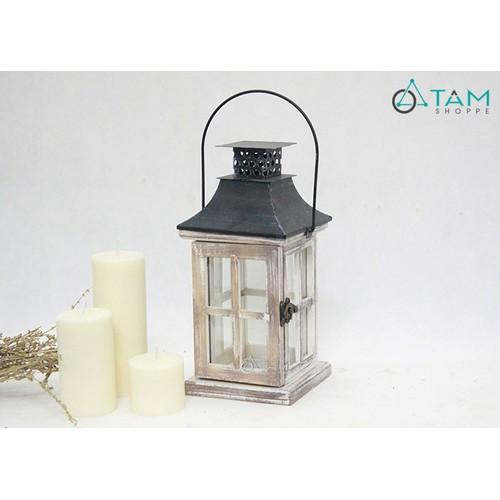 Đèn nến nhà gỗ cổ điển số 21 cỡ nhỏ