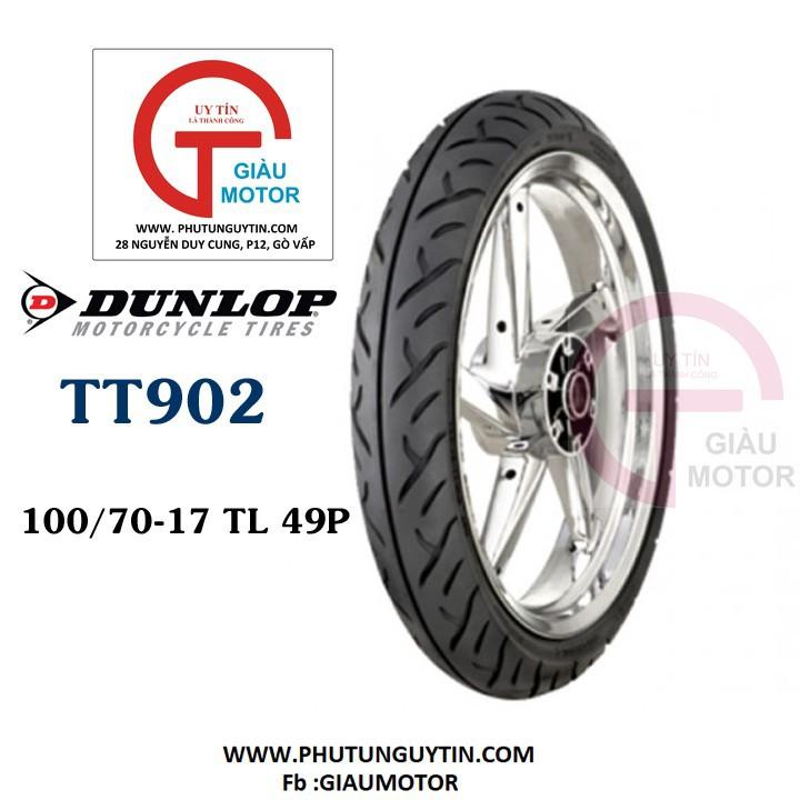 Lốp Dunlop 100.70-17 TT902 TL 49P  Vỏ xe máy Dunlop size 100.70-17 TT902 TL 49P _ Dunlop Việt Nam, giá rẻ, uy tín 1