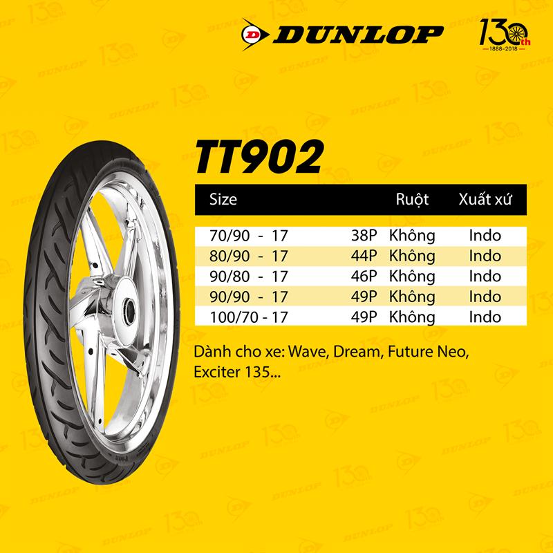 Lốp Dunlop 100.70-17 TT902 TL 49P  Vỏ xe máy Dunlop size 100.70-17 TT902 TL 49P _ Dunlop Việt Nam, giá rẻ, uy tín 2