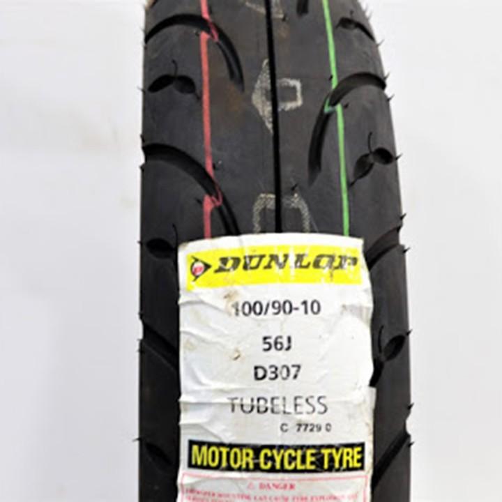 Lốp Dunlop 100.90-10 D307 -  Vỏ xe máy Dunlop size 100-90-10 D307 TL 56J Trùm Dunlop Việt Nam, giá rẻ, uy tín 7