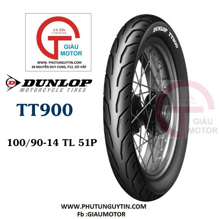 Lốp Dunlop 100.90-14 TT900 TL 51L Vỏ xe máy Dunlop size 100.90-14 TT900 TL 51L _ Dunlop Việt Nam, giá rẻ, uy tín 1