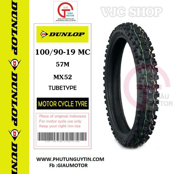 Lốp Dunlop 100.90-19 MX52 TT 57M Vỏ xe máy Dunlop size 100-90-19 MX52 TT 57M _ Dunlop Việt Nam, giá rẻ, uy tín 4