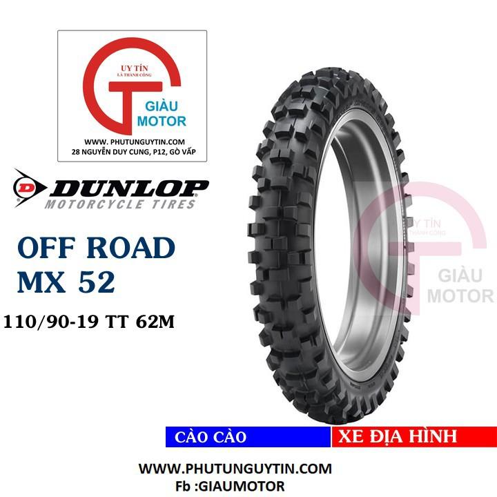Lốp Dunlop 110.90-19 MX52 TT 62MVỏ xe máy Dunlop size 110-90-19 MX52 TT 62M _ Dunlop Việt Nam, giá rẻ, uy tín 1