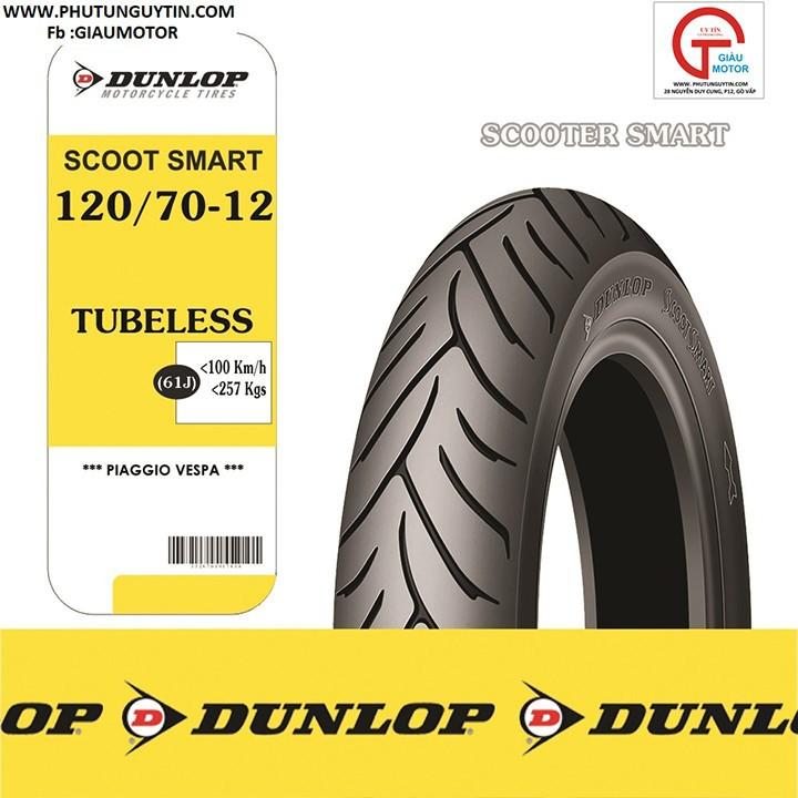 Lốp Dunlop 120.70-12 SC Mart_Vỏ xe máy Dunlop size 120-70-12 SCOOTSMART TL 61J _ Dunlop Việt Nam, giá rẻ, uy tín 4