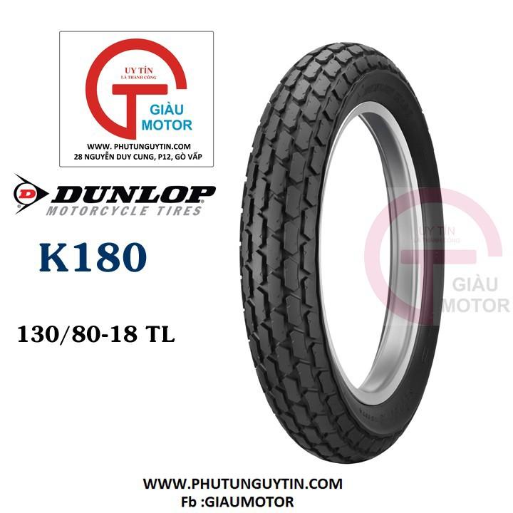 Lốp Dunlop 130.80-18 K180 TT 66P Vỏ xe máy Dunlop size 130-80-18 K180 TT 66P _ Dunlop Việt Nam, giá rẻ, uy tín 1