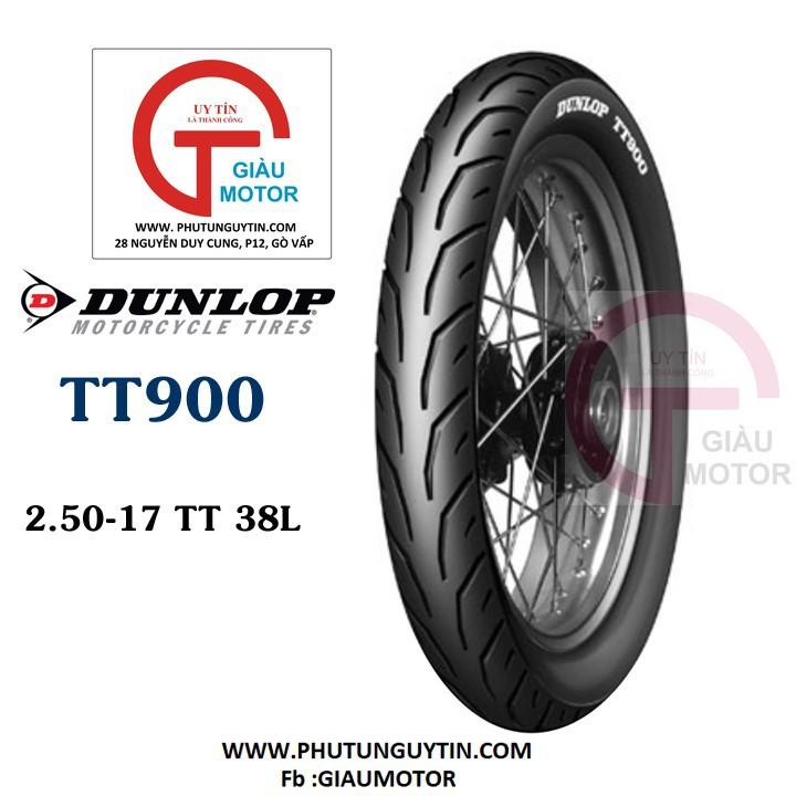Lốp Dunlop 2.50-17 TT900 có ruột 38L Vỏ xe máy Dunlop size 2.50-17 TT900 có ruột 38L _ Dunlop Việt Nam, giá rẻ, uy tín 1