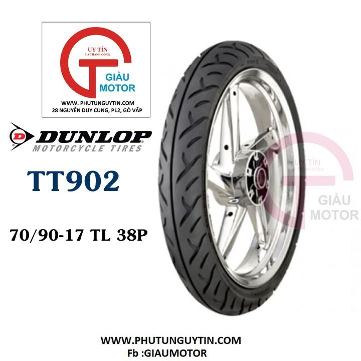 Lốp Dunlop 70.90-17 TT902 TL 38P Vỏ xe máy Dunlop size 70.90-17 TT902 TL 38P _ Dunlop Việt Nam, giá rẻ, uy tín 1