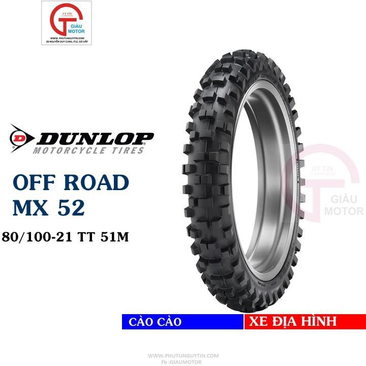 Lốp Dunlop 80.100-21 MX52 TT 51M Vỏ xe máy Dunlop size 80-100-21 MX52 TT 51M _ Dunlop Việt Nam, giá rẻ, uy tín 1