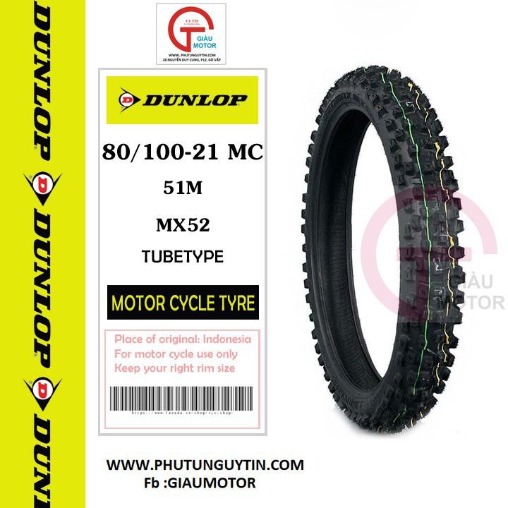 Lốp Dunlop 80.100-21 MX52 TT 51M Vỏ xe máy Dunlop size 80-100-21 MX52 TT 51M _ Dunlop Việt Nam, giá rẻ, uy tín 4