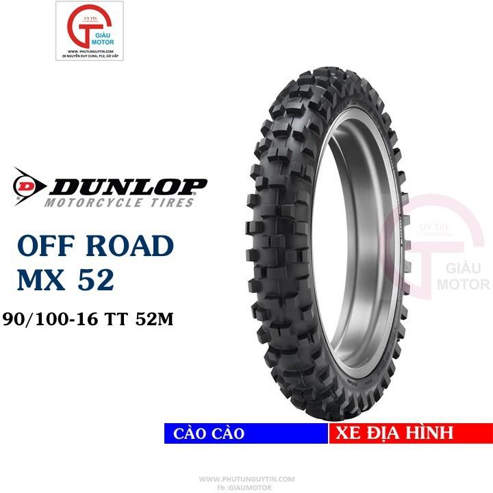 Lốp Dunlop 90.100-16 MX52 TT 52M Vỏ xe máy Dunlop size 90-100-16 MX52 TT 52M _ Dunlop Việt Nam, giá rẻ, uy tín 1