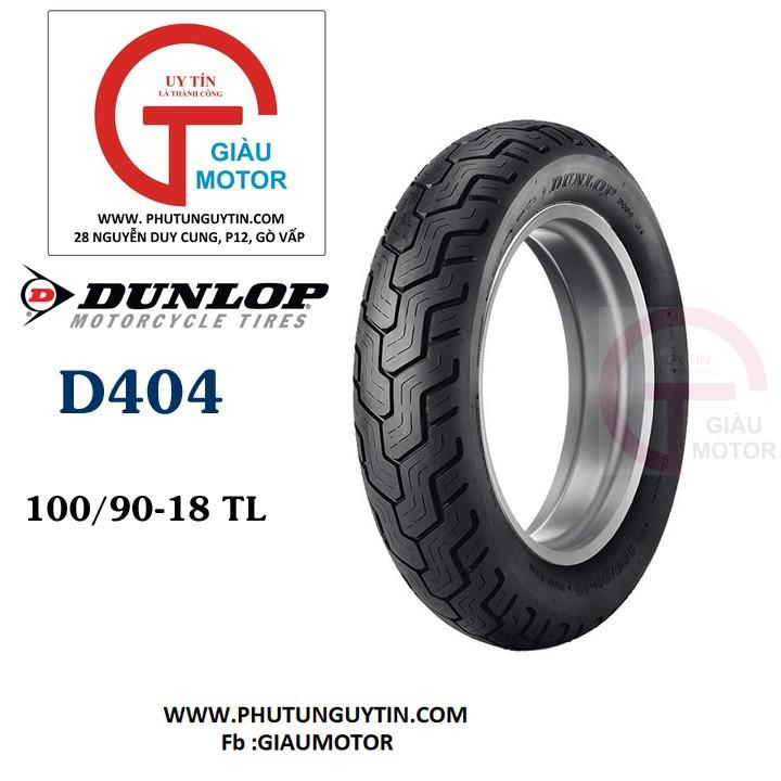 Lốp xe Dunlop 100.90-19 D404 TL 57H Vỏ xe máy Dunlop size 100-90-19 D404 TL 57H Trùm Dunlop Việt Nam, giá rẻ, uy tín 1