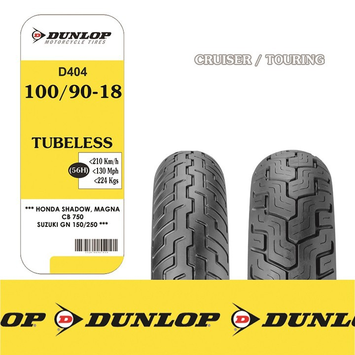 Lốp xe Dunlop 100.90-19 D404 TL 57H Vỏ xe máy Dunlop size 100-90-19 D404 TL 57H Trùm Dunlop Việt Nam, giá rẻ, uy tín 5