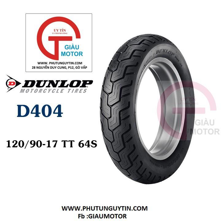 Lốp xe Dunlop 120.90-17 D404 TT 61H Vỏ xe máy Dunlop size 120-90-17 D404 TT 61H Trùm Dunlop Việt Nam, giá rẻ, uy tín 1