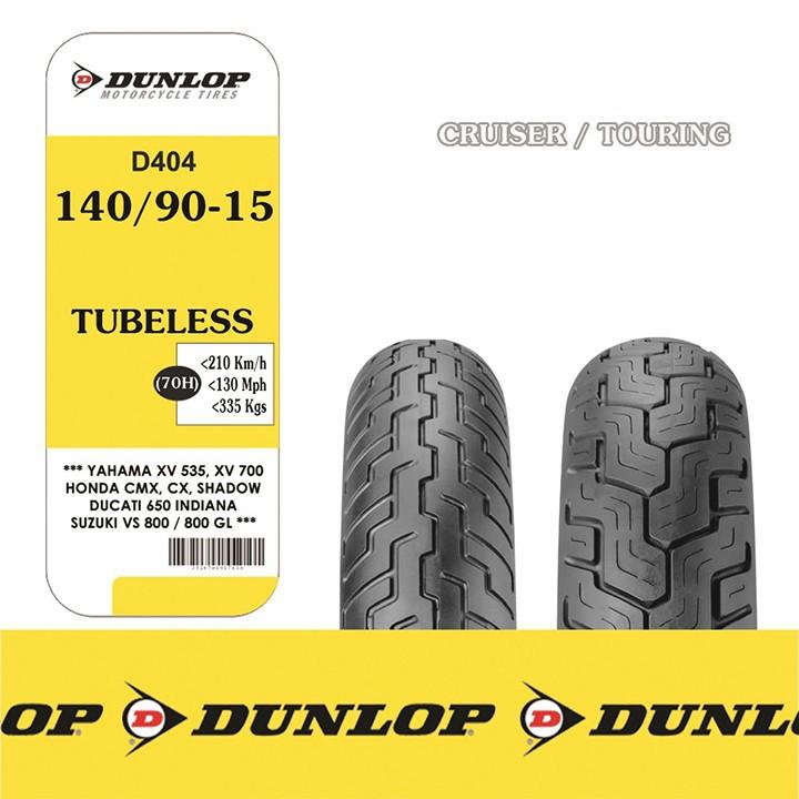 Lốp xe Dunlop 140.90-15 D404 TL 70H Vỏ xe máy Dunlop size 140.90-15 D404 TL 70H Trùm Dunlop Việt Nam, giá rẻ, uy tín 5