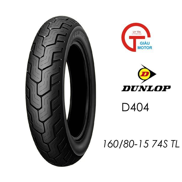 Lốp xe  Dunlop 160.80-15 D404 TT 74S Vỏ xe máy  Dunlop size 160-80-15 D404 TT 74S Trùm Dunlop Việt Nam, giá rẻ, uy tín 5