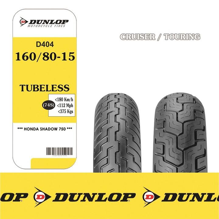 Lốp xe  Dunlop 160.80-15 D404 TT 74S Vỏ xe máy  Dunlop size 160-80-15 D404 TT 74S Trùm Dunlop Việt Nam, giá rẻ, uy tín 6