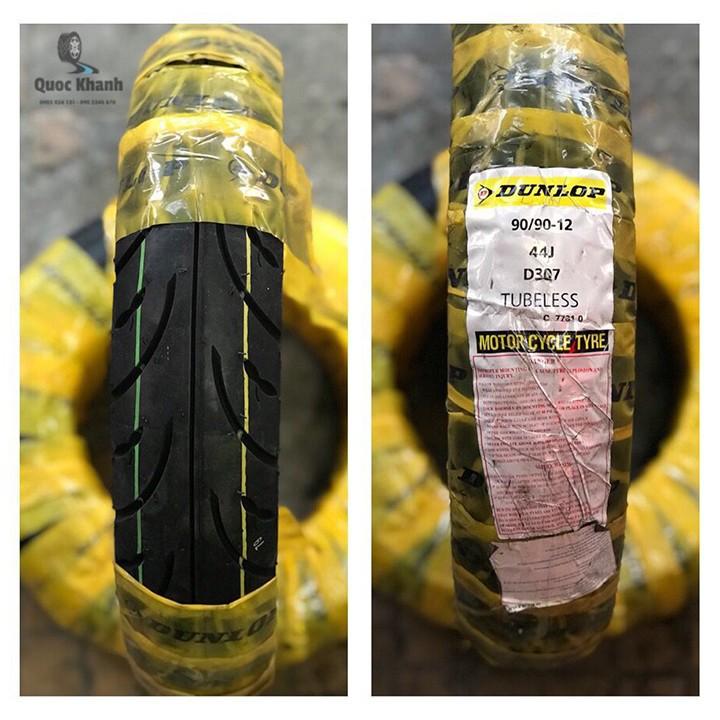 Lốp xe Dunlop 90.90-12 D307 TL Vỏ xe máy Dunlop size 90-90-12 D307 TL 44J Trùm Dunlop Việt Nam, giá rẻ, uy tín 7