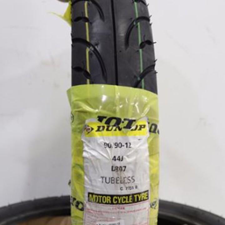 Lốp xe Dunlop 90.90-12 D307 TL Vỏ xe máy Dunlop size 90-90-12 D307 TL 44J Trùm Dunlop Việt Nam, giá rẻ, uy tín 6