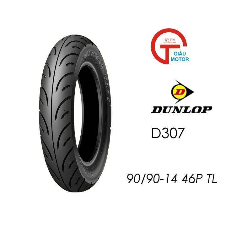 Lốp xe máy Dunlop 90.90-14 D307 - Vỏ xe máy Dunlop size 90-90-14 D307 TL 46P Trùm Dunlop Việt Nam, giá rẻ, uy tín 2