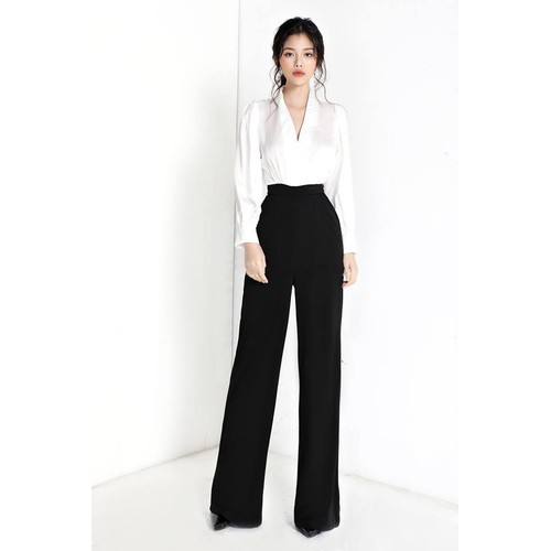 Set áo phi tay dài quần suông thiết kế cao cấp