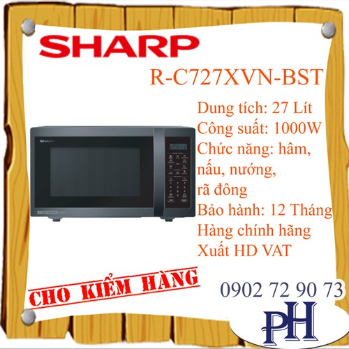 Lò vi sóng Sharp R-C727XVN-BST - 4699535 , 17566180 , 15_17566180 , 5490000 , Lo-vi-song-Sharp-R-C727XVN-BST-15_17566180 , sendo.vn , Lò vi sóng Sharp R-C727XVN-BST