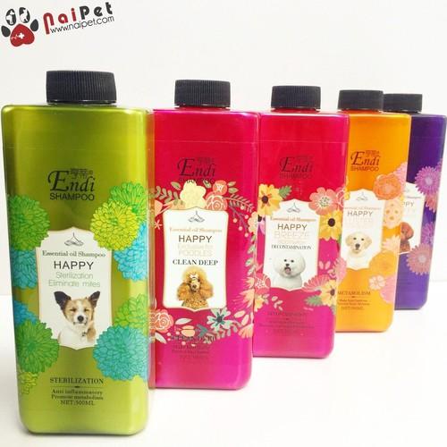 Sữa Tắm Phục Hồi Dưỡng Lông Chống Viêm Loại Bỏ Ve Giúp Lông Mịn Màng Shampoo Happy Endi 500ml