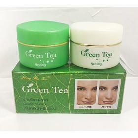 Combo 5 bộ kem trị nám trắng da trà xanh GREEN TEA Ngày và Đêm - V2222