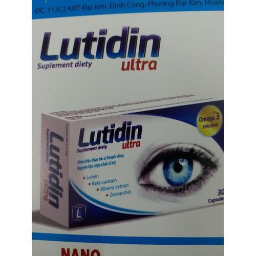 [CHÍNH HÃNG]Viên uống sáng mắt chống mù lòa Lutidin ultra hộp 30v