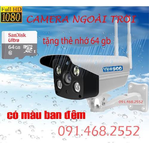 camera siêu nét chống nắng mưa tặng thẻ nhớ 64gb chính hãng